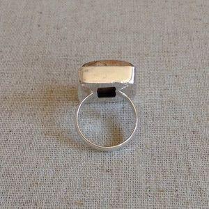 Jewelry - 925 Sterling Silver Overlay Jasper Gemstone Ring 7